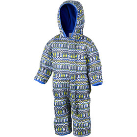 Columbia Snuggly Bunny Bunting Suit Kids, cool grey zigzag/super blue